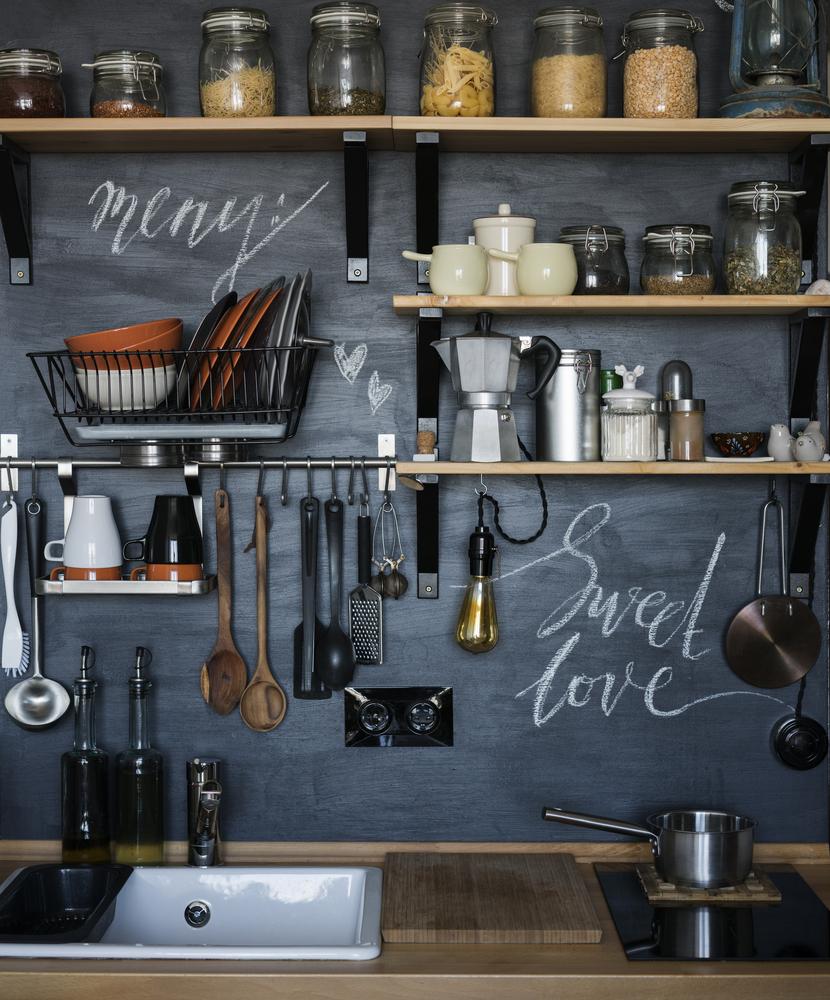Mit Tafelfarbe zum Klassenzimmerflair  Moderne-Küche Magazin